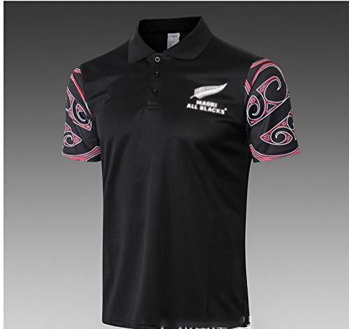 Rùgby Jérsey Maori All Blacks Camiseta De Rùgby, Polo All Black Rùgby Para Hombre, Camiseta Maori Rùgby,Black-XL