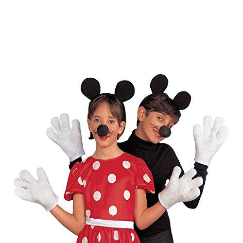 Amakando Disfraz infantil de Minnie Mouse, juego de disfraz de ratn, disfraz para nia, disfraz para carnaval, fiesta temtica de Disney, disfraz para nias