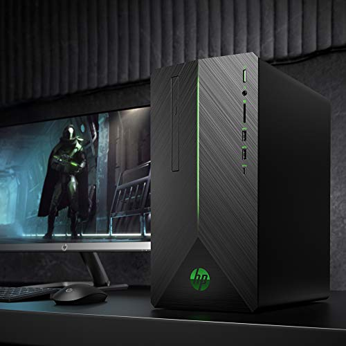 VR Ready HP Pavilion Gaming PC Desktop Computer, Intel Core i5-9400F, NVIDIA GeForce GTX 1660Ti, 8GB RAM, 256GB SSD, Windows 10 (690-0073w, Black)