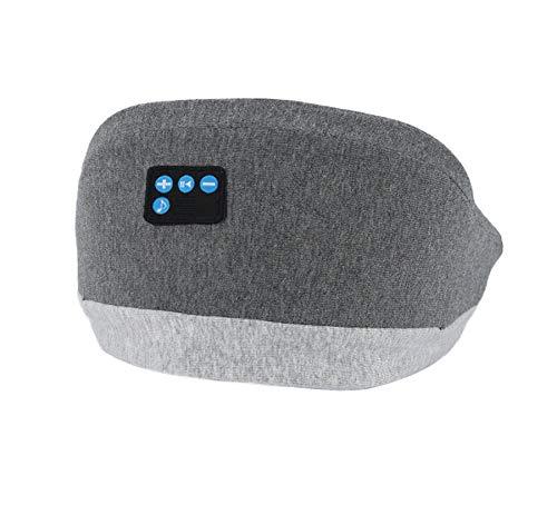WLQWER Bluetooth-Musik-Augenmaske, Schlafkopfhörer 3D-Augenbinde, Bluetooth 5.0 Drahtlose Musikmaske, Augenschirmdeckel, Mit Ultradünnen Lautsprechern Einstellbar
