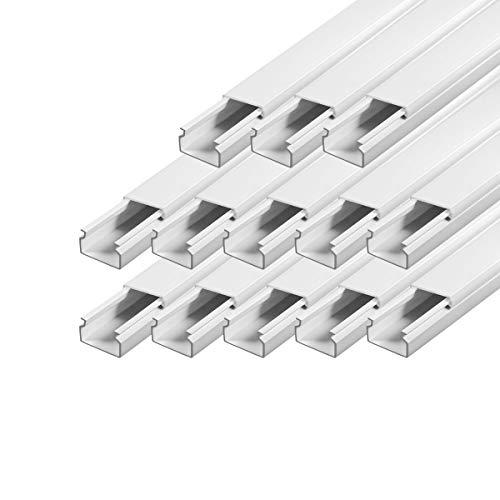 Kabelkanal Installationskanal schraubbar 30 x 20 mm PVC 13 m Wand und Decken Montage allzweck für aller Art von Kabel Haus Büro TV Lautsprecher Telefon Sat Internet ARLI