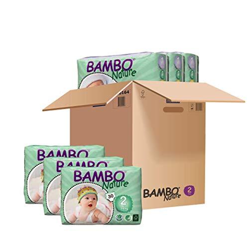 Bambo Nature Windeln Mini Gr. 2 (3-6kg), 6er Pack (3 x 30 Stück)