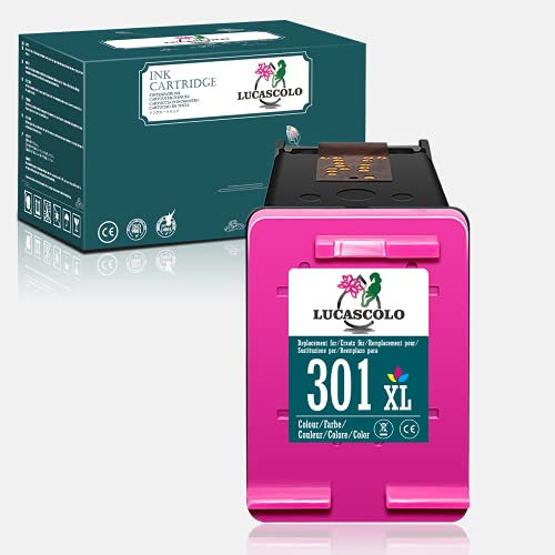 LUCASCOLO Remanufactured Ink Cartridge for HP 301XL 301 XL Use with HP Deskjet 1000 2050 2510 2540 3000 3050 Envy 5530 4500 4507 5532 4502 5534 4504 Officejet 2 0 2622 2 4630 4632 (1 Tri-Colour).