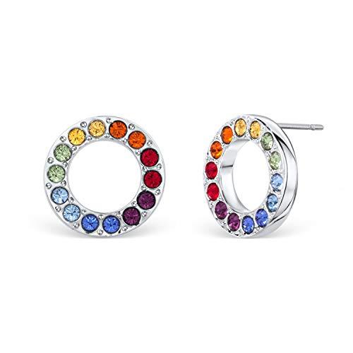 Chakra Ring Ohrringe mit Kristallen von Swarovski®