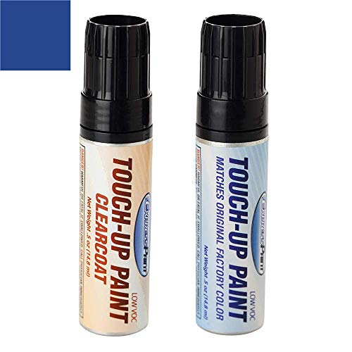 ExpressPaint Half-Ounce Jar - Automotive Touch-up Paint for Ford Mustang - Sonic Blue Pearl Metallic SN/M7095 - Color + Clearcoat Package