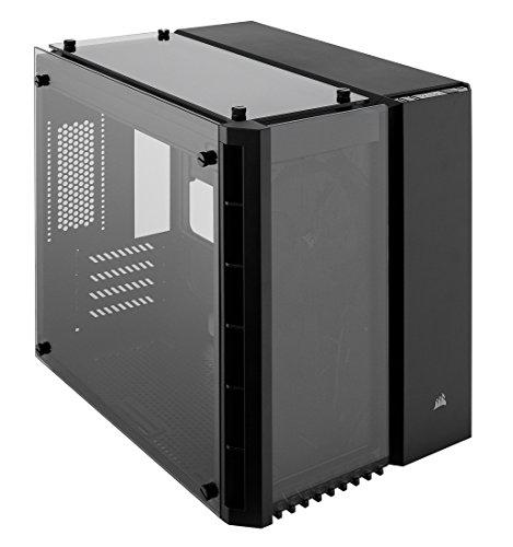 Corsair Crystal 280X PC-Gehäuse (Micro ATX mit gehärtetem Glas), Keine LED, Schwarz