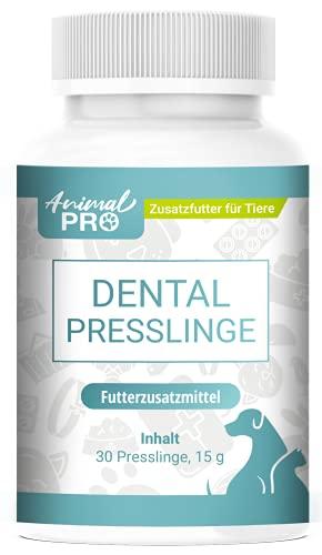 Animal Pro - Dental Presslinge - 30 Presslinge / Zahnpflege Hunde, Hund & Welpen, Katzen & Kitten / natürliche Zahnreinigung / Plaque & Zahnstein entfernen / gegen Mundgeruch / Maulgeruch