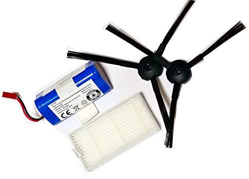 Ersatzteil-Set für Easyhome SR3001 und Evolution SR 2000 - 1 Paar Bürsten, 1 Stück Hepa-Filter und 1 Stück Akku