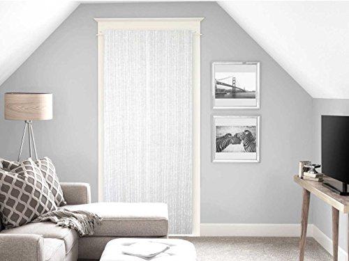 Soleil d'ocre Maelis Brise Bise, Polyester, Blanc, 70x200 cm
