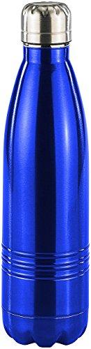 Rosenstein & Söhne Thermoflasche: Doppelwandige Vakuum-Isolierflasche aus Edelstahl, 0,5 Liter (Trinkflasche Edelstahl)