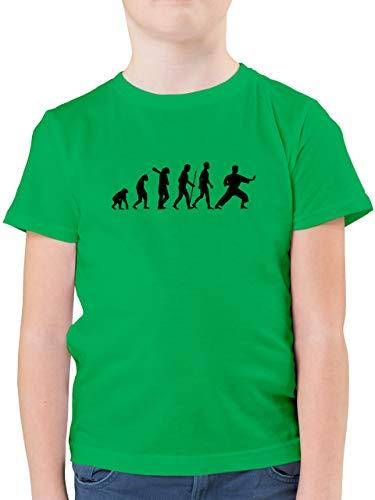 Evolution Kind - Kampfsport Evolution - 152 (12/13 Jahre) - Grün - Jungen Karate Shirt - F130K - Kinder Tshirts und T-Shirt für Jungen