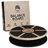 JING·N·JANG Balance Board • Wackelbrett aus Holz • Gleichgewichtstrainer inkl. Anti-Rutschmatte • Balance Board Erwachsene • Therapiekreisel