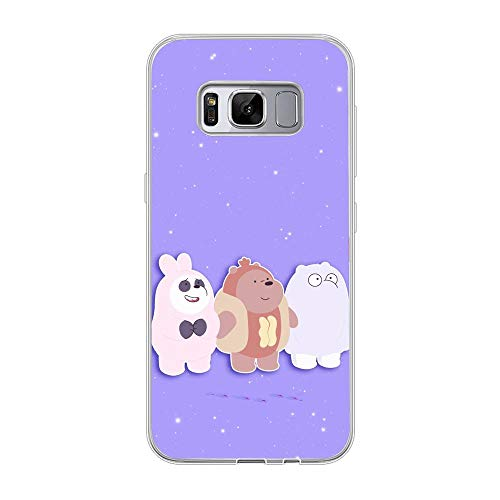 Clear Soft Silicone TPU Liquid Case for Samsung Galaxy S8, We Bare-Bear Animated 9
