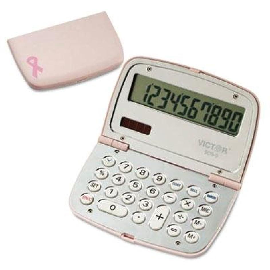 ディベート手荷物取り出すVictor?–?2パック?–?909?–?9?Limited Editionピンクコンパクト電卓10桁LCD