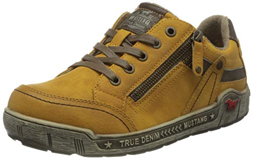 MUSTANG Damen 1290-302-6 Sneaker, gelb, 40 EU