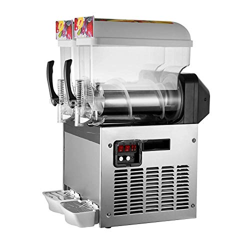 BuoQua 2x15l Slusheis Maschine 600W Slush Maker kommerziell Slush Ice Machine Slush Eismaschine Frozen Drink (2x15l)
