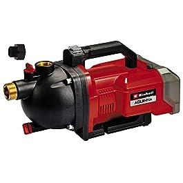 Einhell Pompe d'arrosage sans fil AQUINNA 36/30 Power X-Change (2 x 18V, bouchons de remplissage et de purge, protection thermique, poignée de transport, vendue sans batterie ni chargeur)