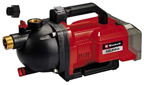 Einhell Akku-Gartenpumpe AQUINNA 36/30 Power X-Change (Li-Ion, 36 V, 2.6 bar, 3000 L/h Fördermenge, 2-Stufen ECO-Schalter, Wassereinfüll- und Ablassschraube, Thermoschutz, ohne Akkus und Ladegerät)