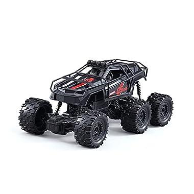 DEORBOB Six-Wheel Off-Road High-Speed Remote Control Crawler Car Radio Controlled Model Vehicle Anti-Fall Electric…