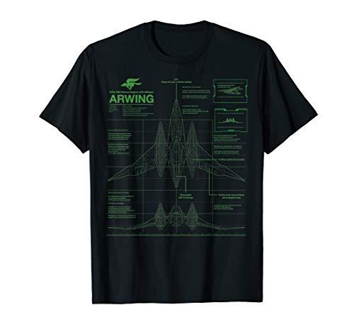 Nintendo Star Fox Zero Arwing Schematics Poster T-Shirt