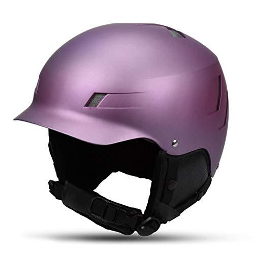 QZPDP Skiën Snowboard Helm Gecertificeerde Veiligheid Helm Professionele Skiën Sneeuw Sport Helm Afneembare Oordopjes Verstelbare Hoofdomtrek Geschikt voor Kinderen