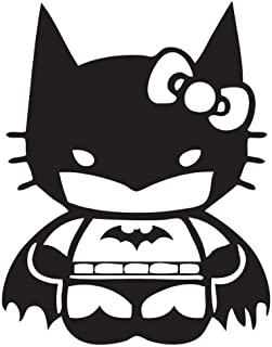54eed3892 Hello Kitty Batman Decal, H 7 By L 6 Inches, White, Black,