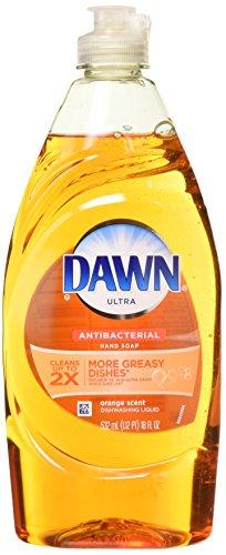 3 Pk, Dawn Dish Soap, Ultra Antibacterial Hand Soap, Orange Scent Dishwashing Liquid, 18 oz