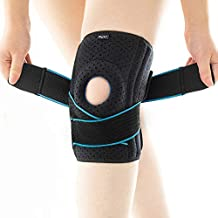 DOUFURT Knee Brace with Side Stabilizers for Meniscus Tear Knee Pain ACL MCL Injury Recovery Adjustable Knee Support for Men and Women