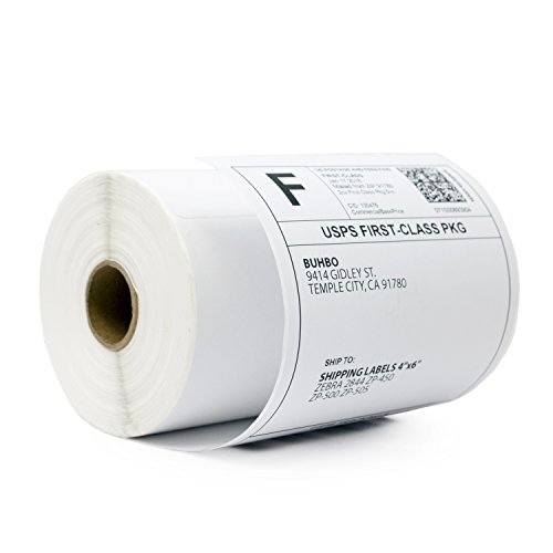 Buhbo 4 x 6  Direct Thermal Shipping Labels for Zebra 2844 ZP-450 ZP-500 ZP-505 (250 Labels Per Roll)