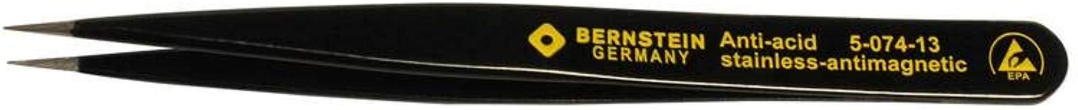 Bernstein 5-051-13 Pinzas de precisi/ón para componentes SMD 115 mm, rectas, puntiagudas, con recubrimiento ESD