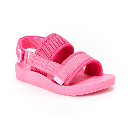 Carter's Girl's Tango Mesh Sandal with Double Adjustable Straps, fuchsia, 5 M US Toddler