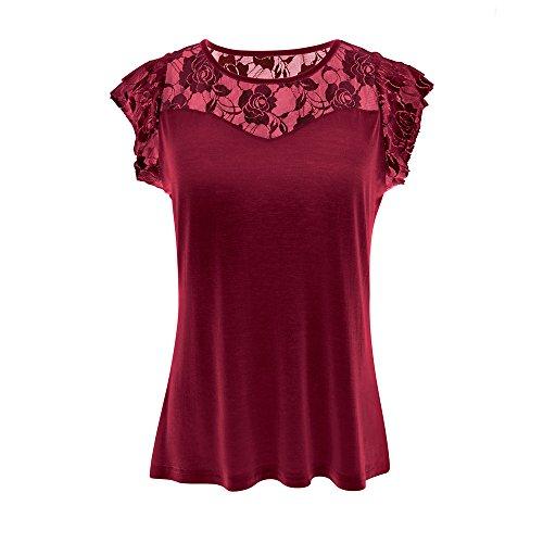 Subfamily-T-Shirt Damen Bluse Oberteile Elegant Oversize Lang Tops Shirt Sommer Kurzarmshirt Weihnachten Black Friday Cyber Monday Thanksgiving
