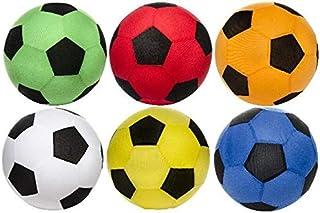 wuselwelt Balón de fútbol hinchable gigante XXL con funda de forro polar, 50 cm de diámetro, ideal para jardín, piscina, piscina, etc.