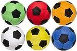 wuselwelt 1 riesiger XXL Aufblasbarer Fussball mit Fleece Hülle, 50 cm Durchmesser. Super Spielball...