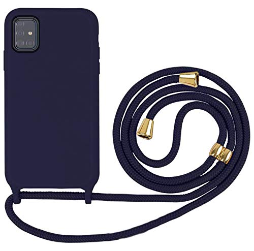 Oihxse Mode Silicone Coque avec Cordon de Lanyard Compatible pour Samsung Galaxy S20 Étui Silicone Liquide avec Réglable Tour de Cou Lanière en Corde Case Antichoc Ultra Mince Cover,A3