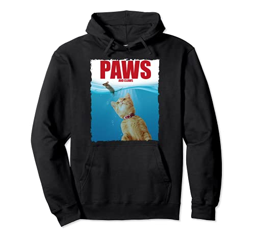 Paws & Claws Funny Cat Lover Sarcastic Mouse Kitten Sudadera con Capucha