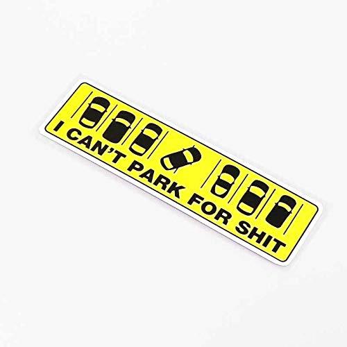 A/X 13,7 CM * 3,5 CM no Puedo aparcar para el Estilo de Coche Pegatina de Coche Accesorios de PVC 13-0338