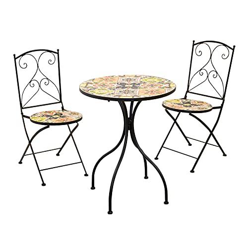 Tavolo da giardino con 2 sedie modica Multicolore