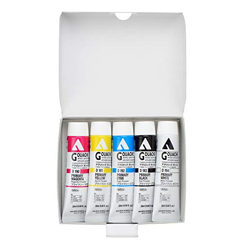 Holbein Acryla Gouache Mixing Set of 5 20Ml D421