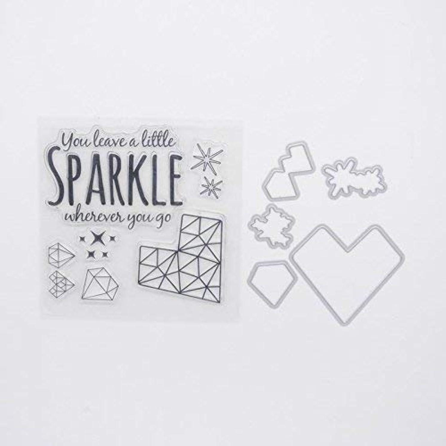 Welcome to Joyful Home Sparkle Metal Cutting Dies Stamp Stencils DIY Scrapbooking Photo Album Decor Cards (Clear Stamp+Dies Cutting)