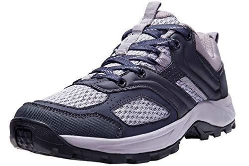 CAMEL CROWN Zapatillas de Senderismo para Mujer Antideslizantes Zapatillas de Trekking Montaña Transpirables Zapatillas de Seguridad Zapatos de Trabajo AL Aire Libre Deporte Rojo Negro 37.5-42.5