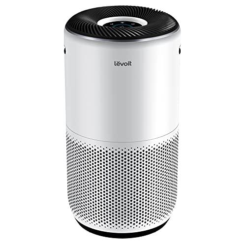 LEVOIT Luftreiniger Smart Air Purifier mit Luftqualitätssensor und Alexa,H13 HEPA Filter gegen 99,97{eb16ccfd268ae02c729a33847a301aee5c72cf2781cfc4e18c4bf2bc18ffb6b7} von Staub Pollen Rauch für Allergiker,4 Lüfterstufen PM2,5 Anzeige Nachtmodus Timer,bis zu 83㎡