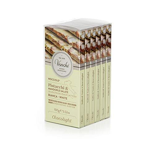 Kit Tavolette Astucciate Chocolight Bianco Frutta salata 600g - Senza Zuccheri Aggiunti,...