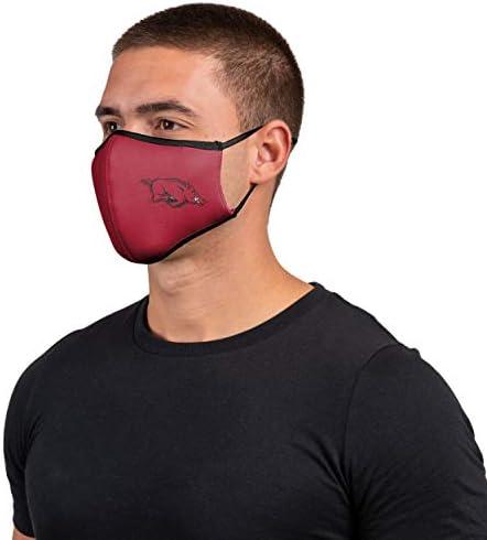 FOCO NCAA unisex-adult NCAA Team Logo Sport Reusable Washable Fashion Face Cover Mask 3-pack