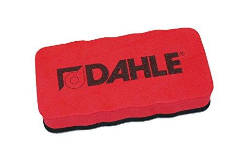 Dahle Whiteboard Schwamm (Magnetischer Wischer für Trockenreinigung auf vielen Oberflächen) rot