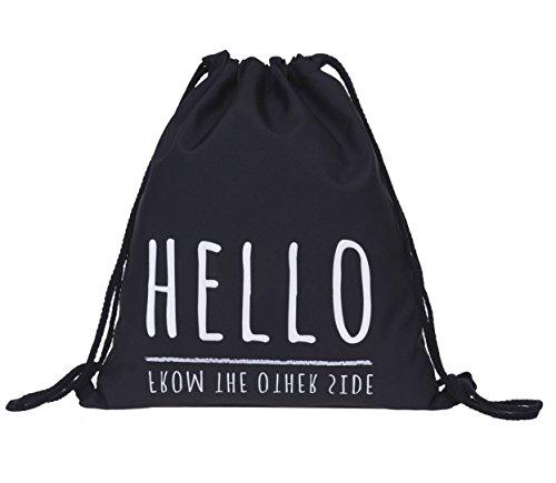 Beutel Hello from the other side Adele Turnbeutel Gym Bag Gymsack Sack Rucksack Hipster Festival Tasche Jutebeutel Sack Loomiloo¨