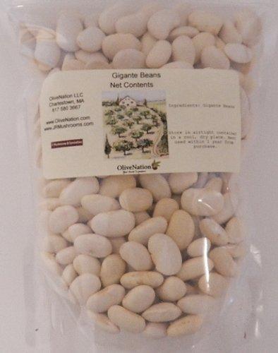 OliveNation Gigante Beans, Dried Greek Giant Bean, Nutritious High Fiber Legume, Non-GMO, Gluten Free, Kosher, Vegan - 2 pounds