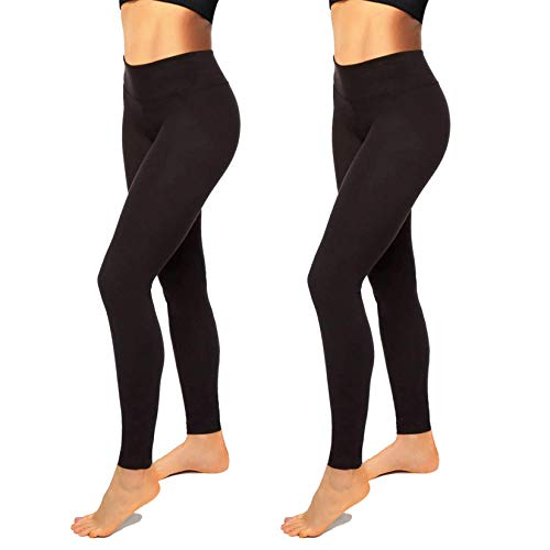 High Waisted Leggings for Women-Womens Black Seamless Workout Leggings Running Tummy Control Yoga Pants(L-XL)