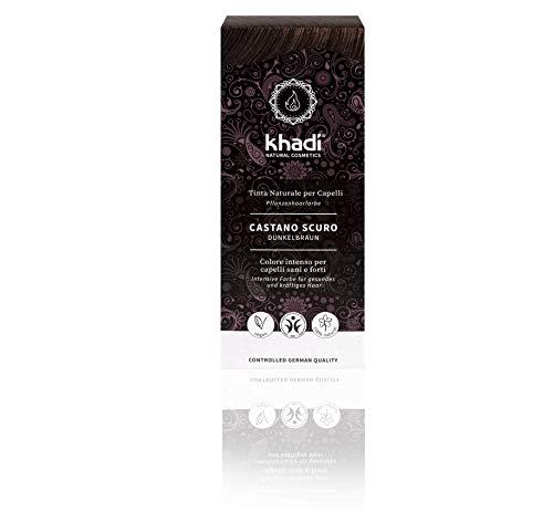 Khadi, natürliches Haarfärbemittel, dunkelbraun, 100 g
