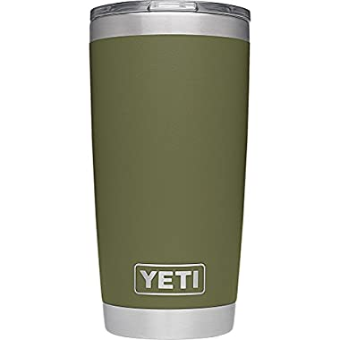 YETI Rambler 20 oz Stainless Steel Vacuum Insulated Tumbler with Lid, Olive